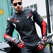 SBK leather motorcycle riding clothes motorcycle clothing titanium protective equipment with hump racing clothing motorcycle anti-drop leather
