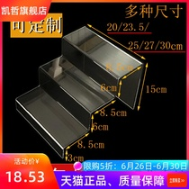 Custom acrylic three-tier hot bend step display stand multi-layer display stand booth shoe rack