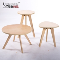 Crown Group wooden coffee table round small table modern side a few simple corner fashion coffee table Nordic side table multi-purpose