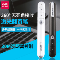 Powerful 33013 30.1-meter key black screen flip pen ppt Flip Pen Laser Flip Pen Wireless presenter