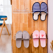 Bathroom slippers rack simple toilet small shoe rack paste placed shoes rack wall hanging free punch racks