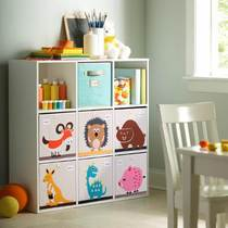 Custom solid wood childrens toy storage cabinet lockers square lattice cabinet single grid storage rack finishing cabinet