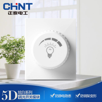CHiNT electrician 118 Type wall switch socket panel NEW5D steel frame dazzle White dimming mode