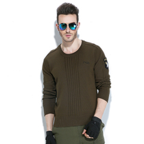 Free Knight outdoor round neck pullover mens knit winter warm sweater casual sweater military fan sweater
