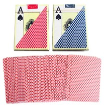 4 sub-big letters Texas Hold  em plastic brand PVC Waterproof scrub back wide card large corner red and blue optional