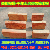 Thousand-year-old soil Shen old Root camphor wood block camphor wood block Red camphor wood strip wardrobe pest moth beads