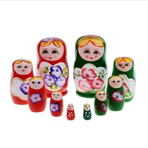 Tourism crafts dolls 5 sets of five sets of Matryoshka pure wooden handmade scenic hot selling souvenirs toys