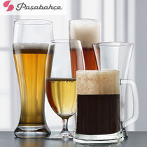 Imported large glass beer cup 500ml creative personality large draft beer cup bar home trumpet
