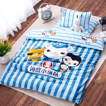 Kindergarten three sets spring and summer cotton containing core quilt children nap Cot Baby kit Bedding six piece set