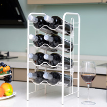Modern minimalist creative European wine rack display stand wine bottle shelf living room home wine cabinet iron ornaments