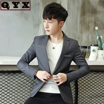 Mens small suit male Korean version of self-cultivation suit jacket boys trend handsome British style single suit spring and autumn