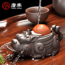 Tang Feng tea pet ornaments can raise purple sand Toad gongfu tea accessories Toad spray tea play tea table decoration