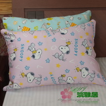 Elegant home textile bed Products Export Japan thickened twill cotton cartoon pillow 35 * 50 PINK puppy