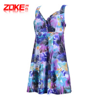 97cb334a9c1ef Chock Mama swimsuit female Conservative cover belly one-piece skirt swimsuit  large size fat mm