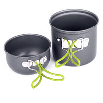 Single set of pot outdoor non-stick camping sets of pot DS-101 sets of Pot Ultra-Light Portable Cup