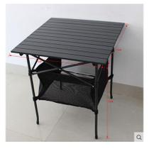 Outdoor Portable Folding table stall table Light aluminum Beach table picnic table self-driving barbecue tables and chairs