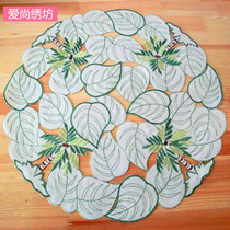 Foreign Trade European pastoral tablecloth fabric embroidery hollow round placemat coaster insulation table mat plate mats Western mats
