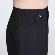 Waiter black work pants female restaurant summer thick elastic thin business hotel loose thin nurse