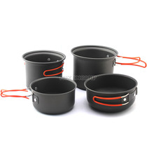 MUXINCAMP outdoor camping combo set Pot cookware picnic supplies pot set cup 2-3 people