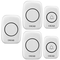 Two drag three wireless doorbell home remote electronic remote control doorbell 110 220V electric wireless doorbell pager