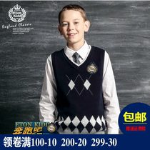 Eaton Gideon uniforms class wear vest boys and girls knitted British sweater cotton vest hot sale 10B004