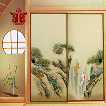 Sheng Tang and feng Japanese Fushma painting Japanese wardrobe door paper and room partition Fushma paper tatami painted paper