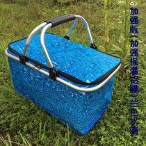 30L large takeaway fast food package car insulation package outdoor picnic insulation delivery box folding shopping basket