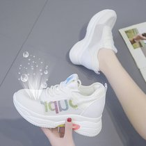 Net shoes female 2019 summer Section breathable increased womens shoes thick bottom was thin mesh casual shoes hollow white shoes