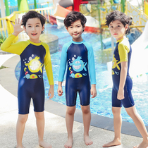 Childrens swimsuit boys Siamese childrens long sleeve swimsuit cute baby infant swimsuit ins swimsuit