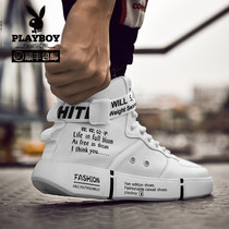 Playboy 2018 Winter new youth Korean tide shoes aj1 sports hip-hop Air Force One high-top shoes