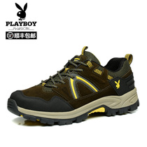 Playboy hiking shoes mens shoes couple sports shoes non-slip hiking shoes women breathable outdoor shoes climbing large size shoes