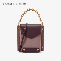 CHARLES & KEITH2019 autumn new CK2-11190001-1 metal rivets ornaments portable shoulder bag female