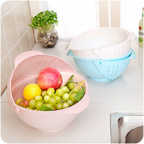 Kitchen three in one fruits and vegetables basket Fruit Basket Flip wash rice basin elevated wash vegetables melon fruit plate wash basket