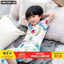 Left West boys pajamas summer 2019 New childrens suit nanorubes home service cotton in the big boy Korean version of the tide