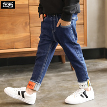 Zuo Mengdan Boy pants 2019 new spring Pants Childrens jeans in the Big Boy leisure Spring and Autumn Korean edition tide