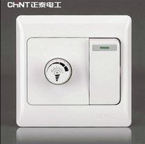 CHiNT switch socket NEW7 series one open double Control switch with dimming function dimmable LED light