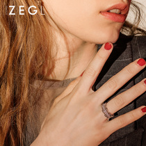 ZENGLIU decorative ring female fashion atmospheric index finger ring personality Japan and South Korea tide Network red exaggerated ring jewelry