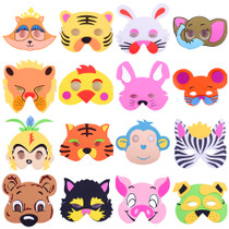 10g kindergarten Eva Cartoon mask Animal Headwear Parent-child activity animal dress Tiger Rabbit Monkey Cat