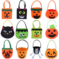 Lin Fang 35g Ghost Festival Halloween dress up prop bag handbag candy spider bat cat bag pumpkin Bag