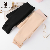 Playboy autumn and winter stockings women plus velvet thick black meat anti-hook silk leg artifact foot socks one pants