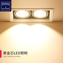 led Gallant lamp double-headed Bean lamp COB spotlights shop commercial embedded grille square downlight 20 watt 10W