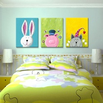 Childrens room decorative painting cartoon imitation painting cute bedroom wall painting dining room dining room wall painting kindergarten frameless painting