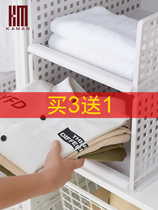 Wardrobe storage artifact wardrobe storage layered partition drawer clothes storage box plastic storage basket racks