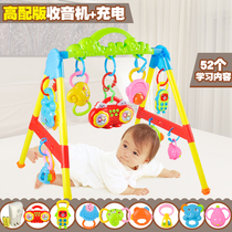 Children early education music fitness device newborn baby fitness rack baby Game toys 0-1 years 3-6-12 months