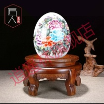 Wenge Tiger foot stone flower pot base tray solid wood bracket round stone fish tank bottom cabinet vase wooden cushion