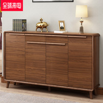 Shoe cabinet Home door solid wood Hall cabinet simple modern Chinese Nordic large-capacity multi-layer economy storage cabinet
