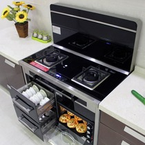 UK YUKIDA integrated kitchen one stove household lower row side suction automatic cleaning steam oven hood Environmental Protection stove