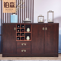 Bosen new Chinese side cabinet modern simple solid wood multi-function cupboards wine cabinet kitchen cabinet lockers