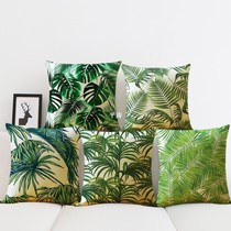 Plant Cushion Cover Tropic Tree Green Throw Pillow Cover