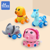 Live stone clockwork toys baby toddler children puzzle baby winding will run will move the chicks octopus frog